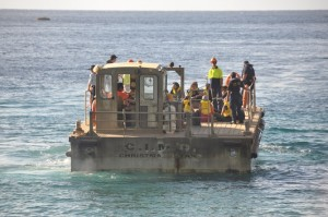 BOAT ARRIVAL CHRISTMAS ISLAND